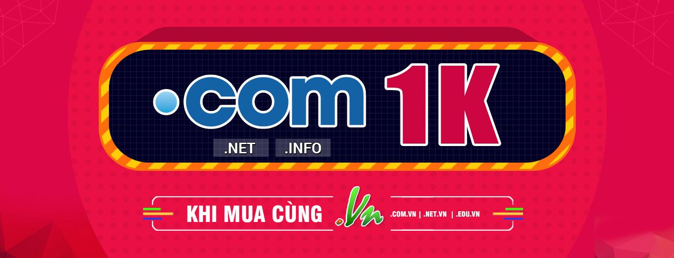 .com 1k khi mua cùng .vn