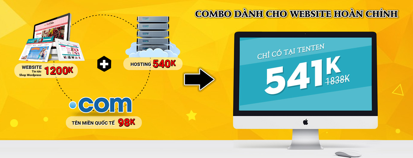 combo domain va Hosting